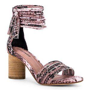 NWT Jeffrey Campbell Pallas Sandal Pink Snake 7.5